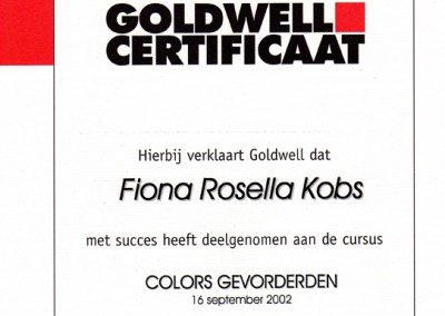 Goldwell Color gevorderden Your Personal Hairdresser Fiona