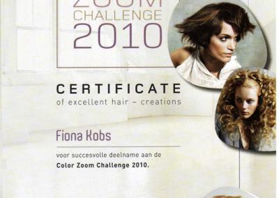 Goldwell certificaat voor Your Personal Hairdresser Fiona